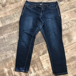 Maurice's jeans dark wash factory fading Size 20